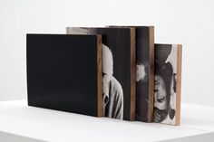 FFFFOUND! | defacedbook (Will Rogan Mediums 4 (II), 2010Â Paper, wood,...) #wood #square #black #photograph
