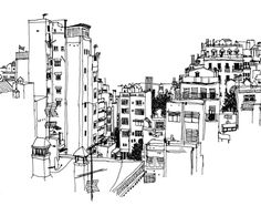 Boglio #city #drawing #buildings #illustration