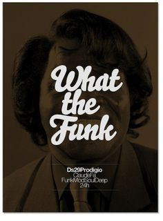 Funk Poster marindsgn | Flickr - Photo Sharing! #james #design #graphic #brown