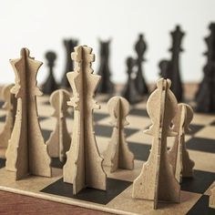 Paper Chess Set From Chronicle Books #gadget