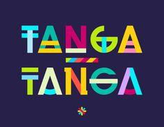 TANGA TANGA Font Velckro Artwork #design #lettering #colour