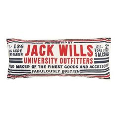 The Longmead Bolster Cushion | Jack Wills #british #vintage #typography