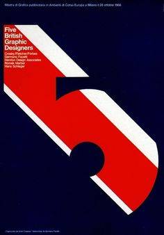 1960s Advertising Poster - Five British Graphic Designers