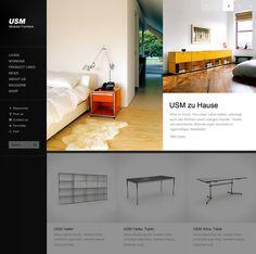 Relaunch USM.com on Behance #layout #furniture #webdesign #web design