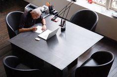 Massimo Vignelli's desk #desk