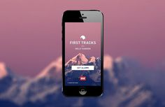 First Tracks #forecast #weather #design #ui #app #web #widget