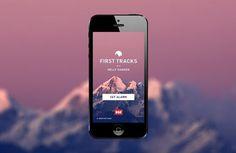 First Tracks #ui design #weather widget #forecast #app #web design