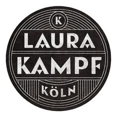 Laura Kampf #logo #white #black #and