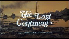The Lost Continent (1968) #typography #title screen