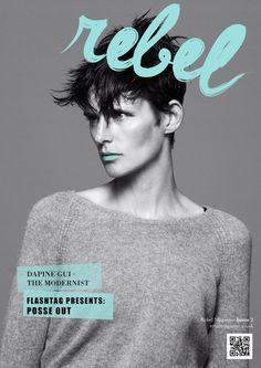 REBEL Typeface Magazine Masthead