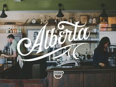 Barista Alberta #lettering
