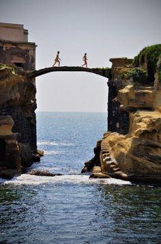 Jay Mug — Gaiola Bridge, Naples, Italy #photography
