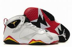Nike Air Jordan 7 Retro White/Black/Yellow Men's