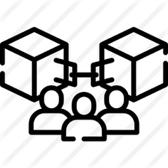 See more icon inspiration related to blockchain, shapes and symbols, public, user, group, shapes and chain on Flaticon.