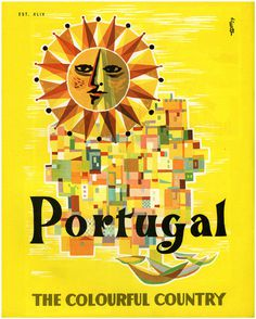 portugal illustration #sun #city #travel #portugal #poster