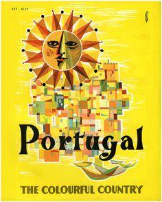 portugal illustration #sun #city #travel #portugal #poster