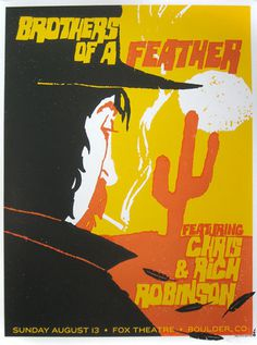 brothers of a feather #gig #screenprint #poster