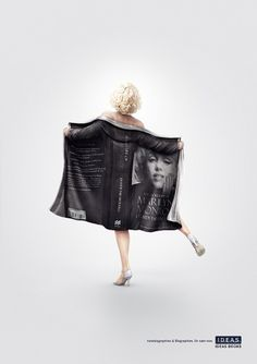 Ideas Books - Flashing Marylin, Agassi & Elvis on the Behance Network #advertisement #celebrity #books