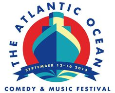 The Atlantic Ocean Comedy Festival #serif #sans #geometric #illustration #logo