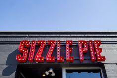 pizza, sizzle, signage, design, letters