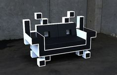 Space Invaders Furniture | PIKTED #retro #space #furniture #invaders #geek #cool