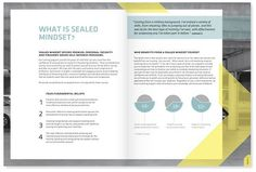 Sealed Mindset Brochure #layout #blue #brochure #info graphics #yellow #training #safety
