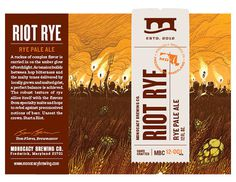 Monocacy Brewing Company Riot Rye Packaging #packaging #beer #label #bottle