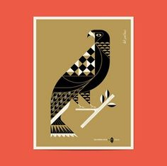 grain edit · Lab Partners: California Gold Posters #illustration #vector #geometric #bird