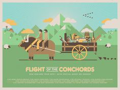 Flight of the Conchords (NZ Tour) #flight #of #the #poster #dkng #conchords