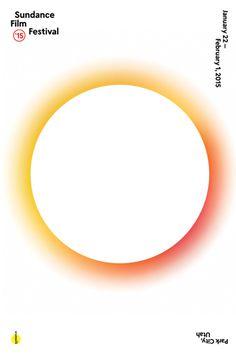 Sundance Film Festival 2015 #poster #2015 #gradent #circle