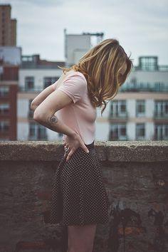 sensitive roof-moods #35mm #skirt #analog #girlsonfilm