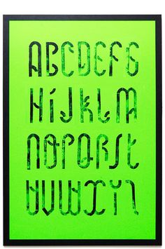 | MODULAR TYPE | on Behance #modular #typography #print #manual #poster #green