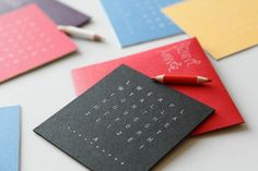 HNY 2012 - Lucie Matussiere #font #seek #greeting #print #card #word #type