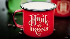 hook, iron, logo, cup, coffee