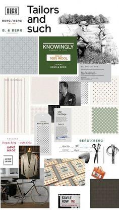 Berg & Berg | Identity Designed #tailor #handmade #pattern