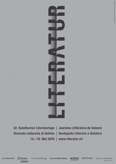 100 beste Plakate 2010 – Ausstellung | Slanted - Typo Weblog und Magazin #font #literature #poster #typo #typography