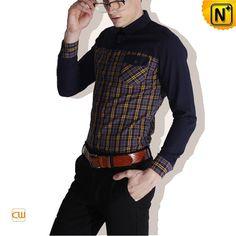 Fashion Long Sleeve Mens Dress Shirts CW114582