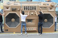 MINI x96 GHETTOBLASTER #creative #cardboard #music #paper #boombox