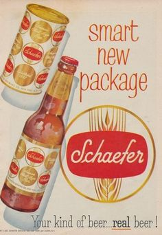 Vintage Beer / Schaefer's Smart New Package #logo #design #youme