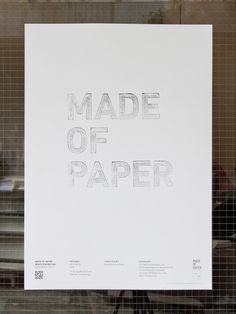 baseline workshop / made of paper poster #graphics #prints