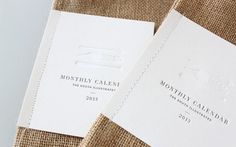 packaging- stitch business card to canvas sacks #packaging