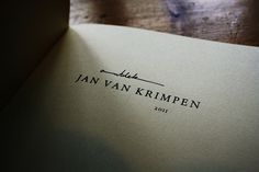 Ontdek Jan van Krimpen (Discover Jan van Krimpen) on the Behance Network #van #design #graphic #book #jan #krimpen #children #typography
