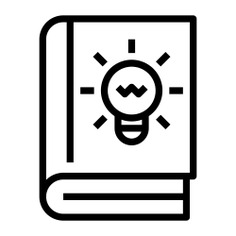 See more icon inspiration related to book, idea, read, bulb, study, knowledge, creative, education, reading and light bulb on Flaticon.
