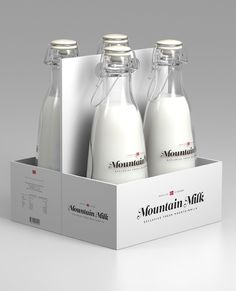 Tine Melk - Mountain Milk on the Behance Network #norway #mountain #white #packaging #milk