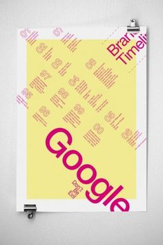Google Infographics Poster | JAMES MILLER #miller #pink #yellow #design #james #posters #google #typography