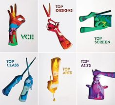 design work life » cataloging inspiration daily #hat #scissors #hand #paper #cut #sticks #rabbit #drum