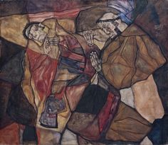 L'Autruchon - Egon Schiele, Agonie (1912) #schiele #art