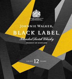 Johnny Walker Black 12 years label