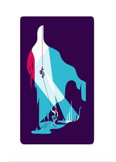 MOUNTAIN on Behance #vector #cavern #illustration #blue #ice