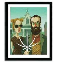 AMERICAN GOTHIC by STEVE SIMPSON #print #art